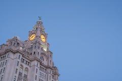 Bâtiment iconique de Liverpool, le bâtiment royal de foie Images libres de droits