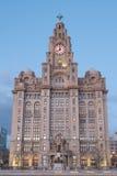 Bâtiment iconique de Liverpool, le bâtiment royal de foie Photo stock