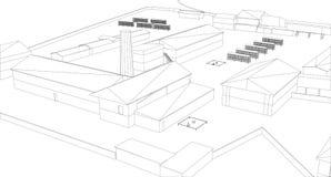 Bâtiment industriel illustration libre de droits