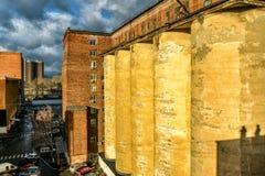 Bâtiment industriel abandonné à Moscou photos stock