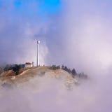 Bâtiment isolé en montagnes Images libres de droits