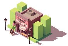Bâtiment isométrique de barre de clou de vecteur Photo stock
