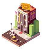 Bâtiment isométrique de casino de vecteur illustration libre de droits
