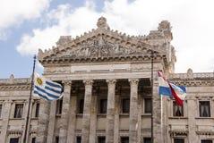 Bâtiment législatif de style néoclassique à Montevideo photo libre de droits