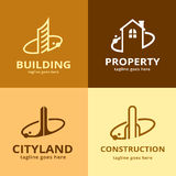 Bâtiment Logo Template Design Vector Photographie stock