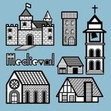 Bâtiment médiéval illustration libre de droits