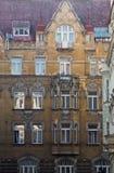 Bâtiment médiéval richement décoré dans la vieille ville Prague, République Tchèque Image stock