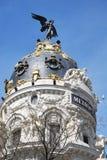 Bâtiment métropolitain à Madrid Photos stock