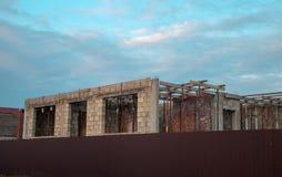 Bâtiment, maison, brique, blanc, rouge, propriété, vide, Photos stock