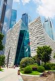 Bâtiment moderne, bibliothèque de Guangzhou, point de repère de ville, Chine image libre de droits