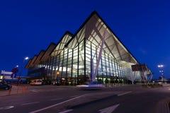 Bâtiment moderne d'aéroport de Lech Valesa à Danzig Photo libre de droits