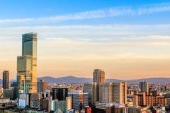 Bâtiment moderne de paysage urbain d'affaires de l'Asie Image libre de droits
