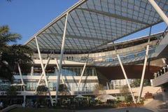Bâtiment moderne de structure métallique de l'ASIE CHINE SHENZHEN dans la place du monde de mer Images stock