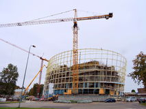 Bâtiment moderne, Lettonie Photographie stock libre de droits