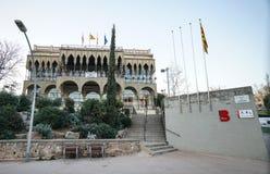 Bâtiment municipal à Barcelone images stock