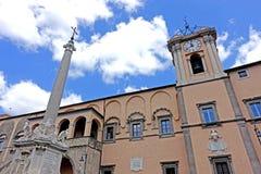 Bâtiment municipal de Tarquinia photographie stock