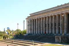 Bâtiment néoclassique d'université de faculté de droit de Buenos Aires, Argentine image libre de droits