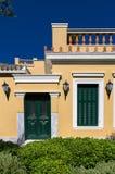 Bâtiment néoclassique dans le voisinage de Plaka, Athènes, Grèce photographie stock