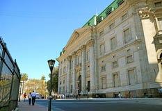 Bâtiment néoclassique impressionnant de la banque de la nation argentine, Buenos Aires, Argentine images stock