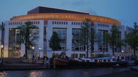 Bâtiment national d'opéra et de ballet le soir - AMSTERDAM - LES PAYS-BAS - 19 juillet 2017 clips vidéos