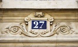 Bâtiment numéro 25 Images libres de droits