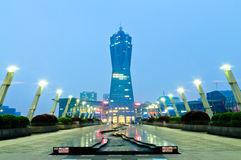 Bâtiment occidental de point de repère de place de culture de lac hangzhou Photos stock