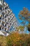 Bâtiment préfabriqué rénové à Magdebourg en Allemagne image libre de droits