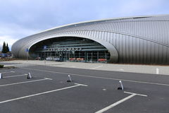 Bâtiment principal d'aéroport de Karlovy Vary Photo stock