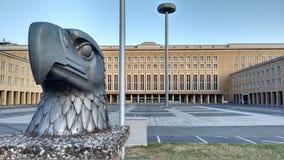 Bâtiment principal d'aéroport historique le Tempelhof à Berlin Image stock