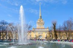 Bâtiment principal d'Amirauté, St Petersburg, Russie Images stock
