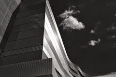 Bâtiment principal d'arène de Danube en noir et blanc, Budapest Image stock
