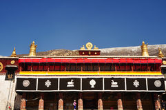 Bâtiment principal dans le monastère de Drepung Image libre de droits
