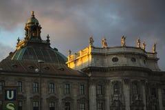 Bâtiment principal de cour à Munich Photos stock