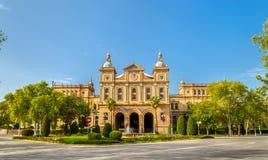 Bâtiment principal de Plaza de Espana, un complexe d'architecture Séville - en Espagne Images stock