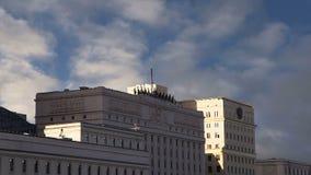 Bâtiment principal du ministère de la Défensede thedu FederationrusseMinoboron, jour Moscou, Russie clips vidéos