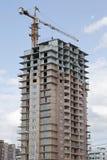 Bâtiment résidentiel de construction Image stock