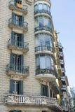 Bâtiment résidentiel de style de modernisme, Barcelone photo stock