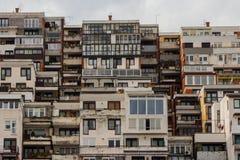 Bâtiment résidentiel moderne à Sarajevo La Bosnie-et-Herzégovine images libres de droits