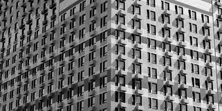 Bâtiment résidentiel moderne image stock