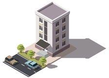 Bâtiment résidentiel public isometry illustration stock