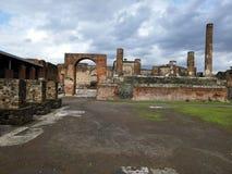 Bâtiment ruiné à Pompeii photo stock