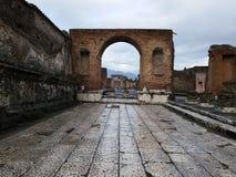 Bâtiment ruiné à Pompeii image libre de droits