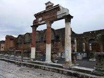 Bâtiment ruiné à Pompeii photos stock