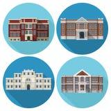 Bâtiment scolaire plat illustration stock