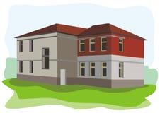Bâtiment scolaire vieux illustration de vecteur