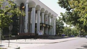 Bâtiment soviétique de gouvernement de Palatul Republicii d'architecture de brutalist banque de vidéos