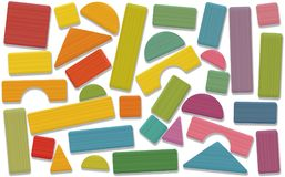 Bâtiment Toy Blocks Colored Loosely Arranged illustration stock