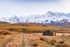 Bâtiment traditionnel d'Altai Photographie stock libre de droits