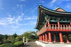 Bâtiment traditionnel de la Corée, île volcanique de Jeju Image stock