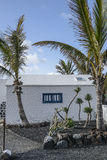 Bâtiment traditionnel de Lanzarote Image stock